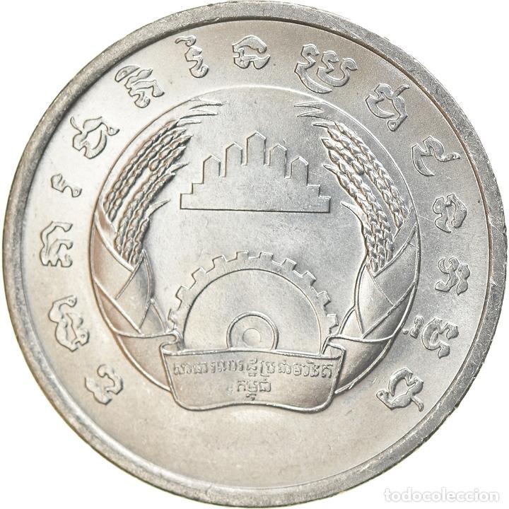 MONEDA, CAMBOYA, 5 SEN, 1979, SC, ALUMINIO, KM:69 (Numismática - Extranjeras - Asia)