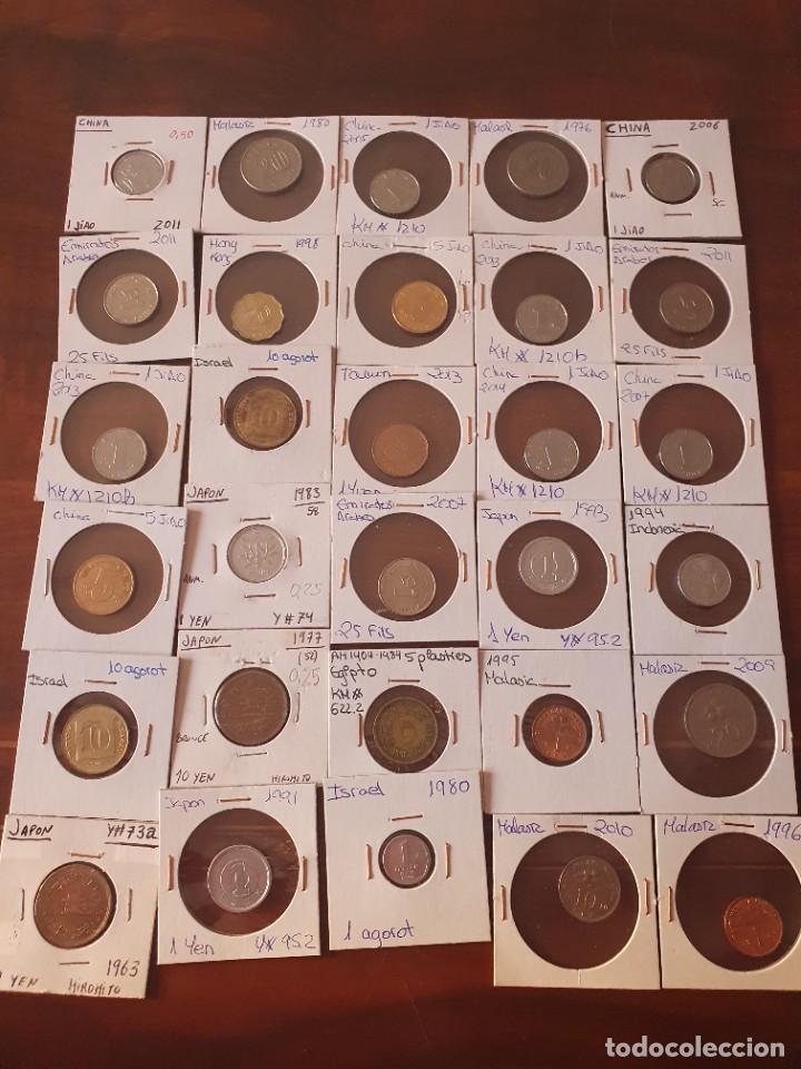 Monedas antiguas de Asia: Lote monedas encartonadas - Foto 3 - 236379255