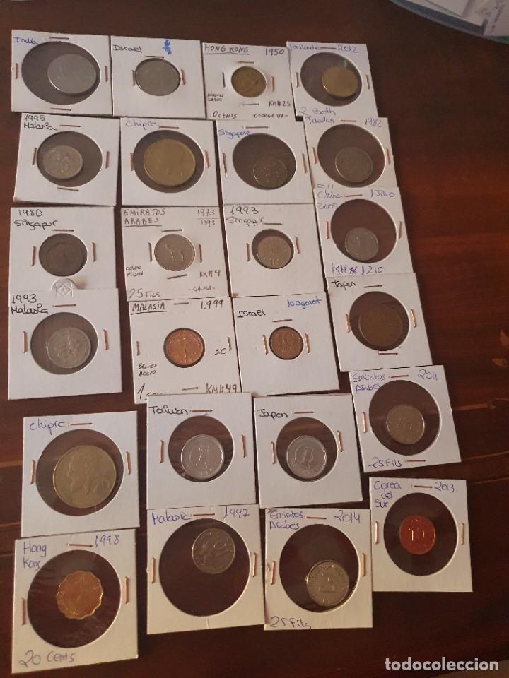Monedas antiguas de Asia: Lote monedas encartonadas - Foto 4 - 236379255