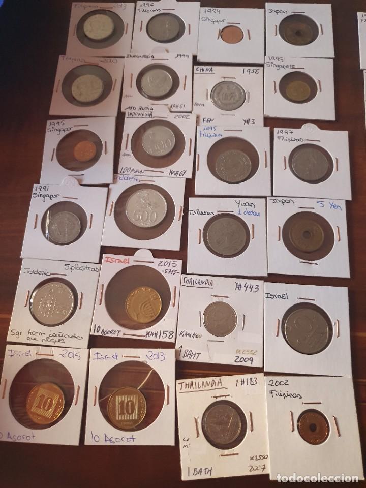 Monedas antiguas de Asia: Lote monedas encartonadas - Foto 5 - 236379255
