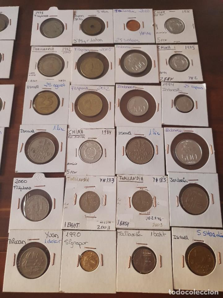 Monedas antiguas de Asia: Lote monedas encartonadas - Foto 6 - 236379255