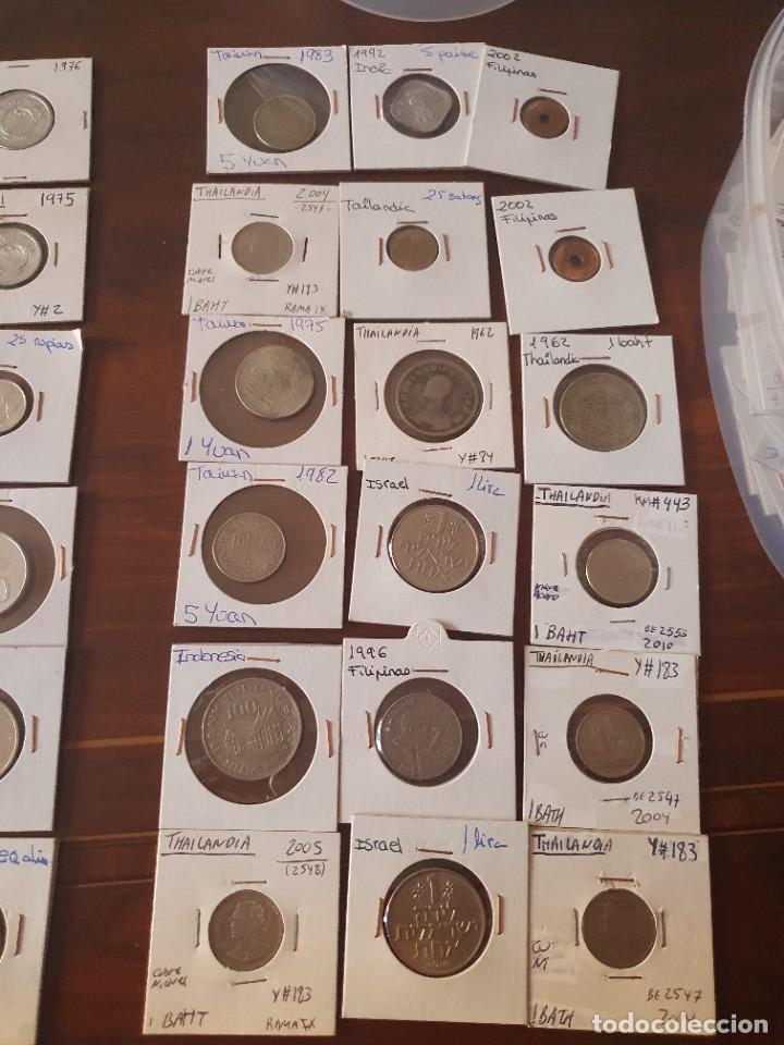 Monedas antiguas de Asia: Lote monedas encartonadas - Foto 7 - 236379255