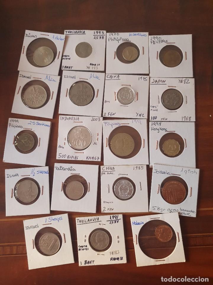 Monedas antiguas de Asia: Lote monedas encartonadas - Foto 8 - 236379255