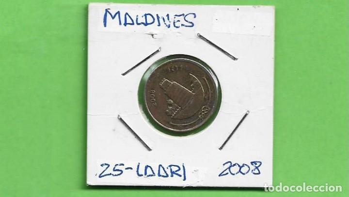 MALDIVES. 25 LAARI 2008. ACERO BAÑADO EN NÍQUEL. KM#134 (Numismática - Extranjeras - Asia)