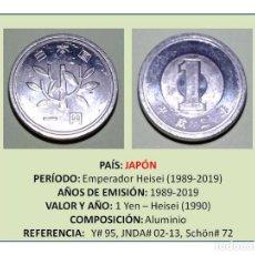 Monedas antiguas de Asia: MONEDA DE 1 YEN (1990) DE JAPÓN. Lote 236404195