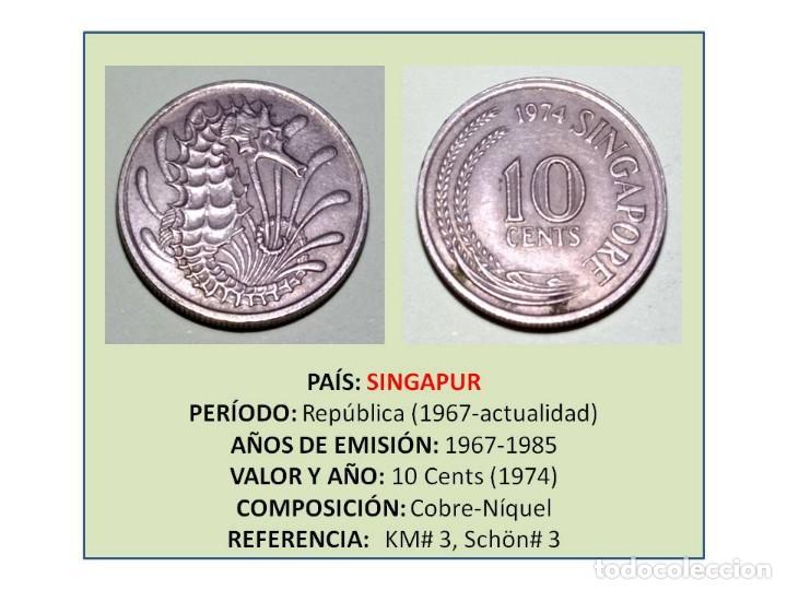 MONEDA DE 10 CENTS (1974) DE SINGAPUR (Numismática - Extranjeras - Asia)
