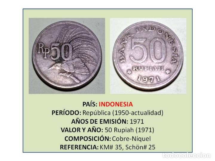 MONEDA DE 50 RUPIAS (1971) DE INDONESIA (Numismática - Extranjeras - Asia)