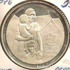 Monedas antiguas de Asia: CHIPRE (CYPRUS). 1 POUND 1976. PLATA. PROOF. KM 46A. Lote 236352430