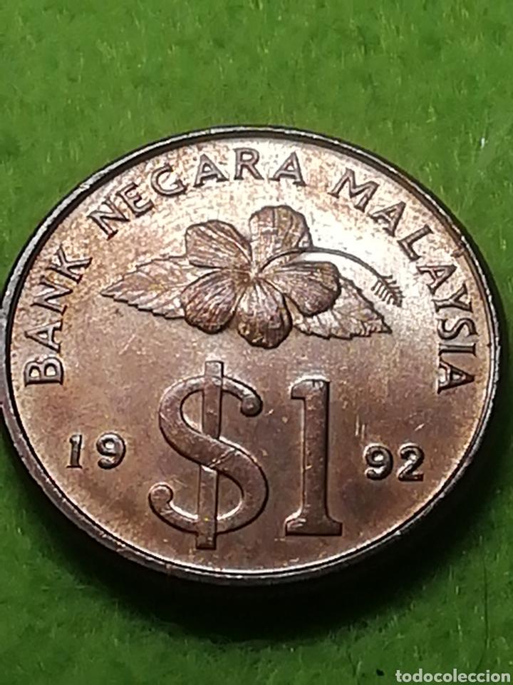 MALASIA.. PRECIOSA MONEDA DE UN RITLING MALAYO (Numismática - Extranjeras - Asia)