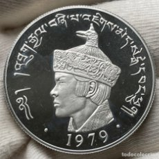 Monedas antiguas de Asia: 3 NGULTRUM 1979 BHUTÁN MONEDA DE PLATA 28.28 GRAMOS LEY 925. Lote 237385610