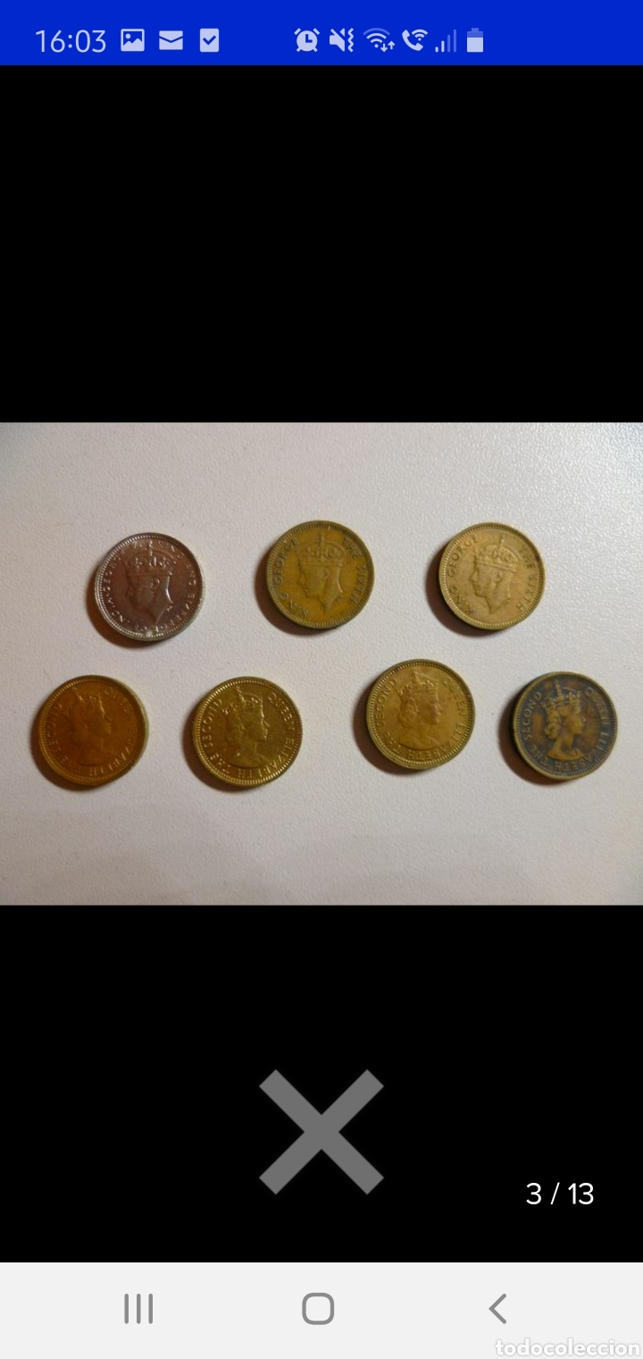 Monedas antiguas de Asia: Colección de 44 monedas hong kong británica diferentes años1933 a 1980 y valores - Foto 2 - 238249355