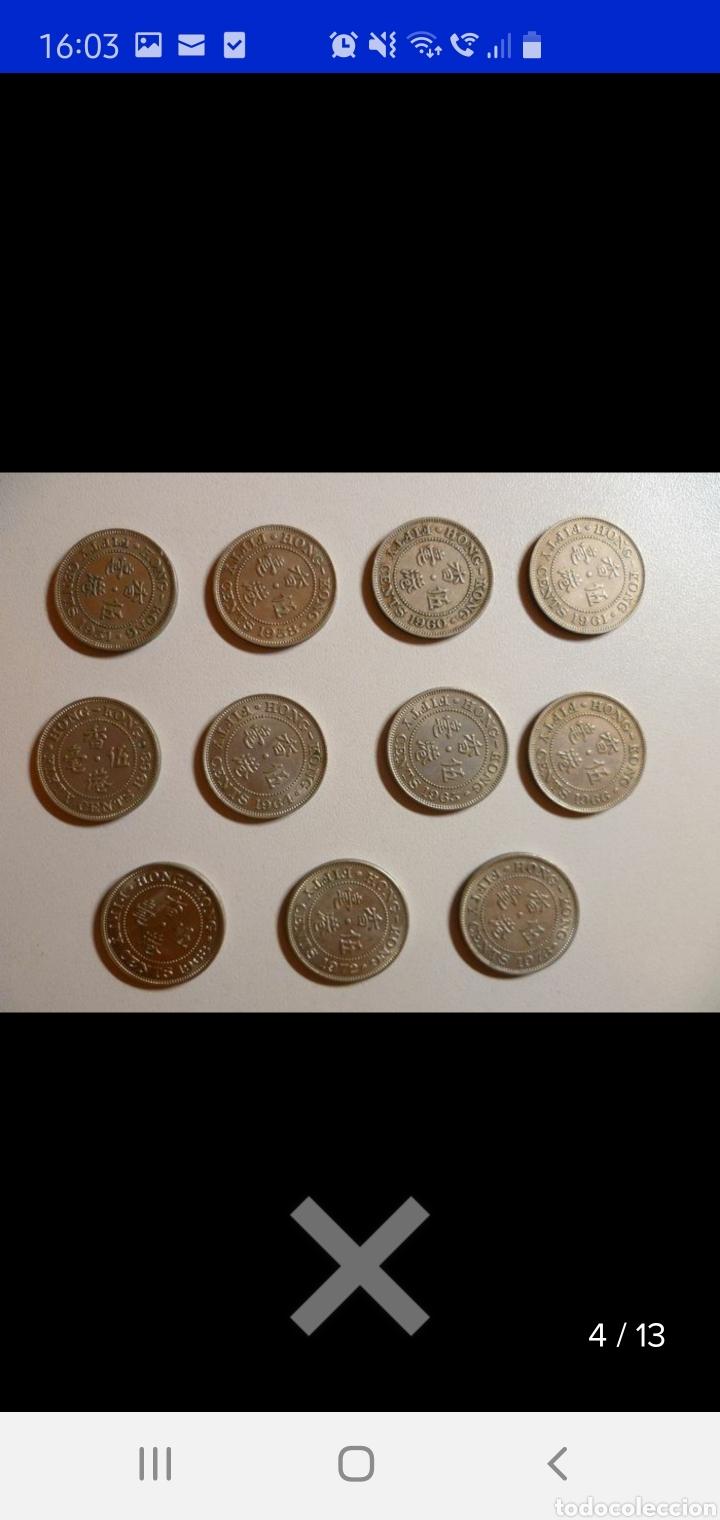 Monedas antiguas de Asia: Colección de 44 monedas hong kong británica diferentes años1933 a 1980 y valores - Foto 3 - 238249355