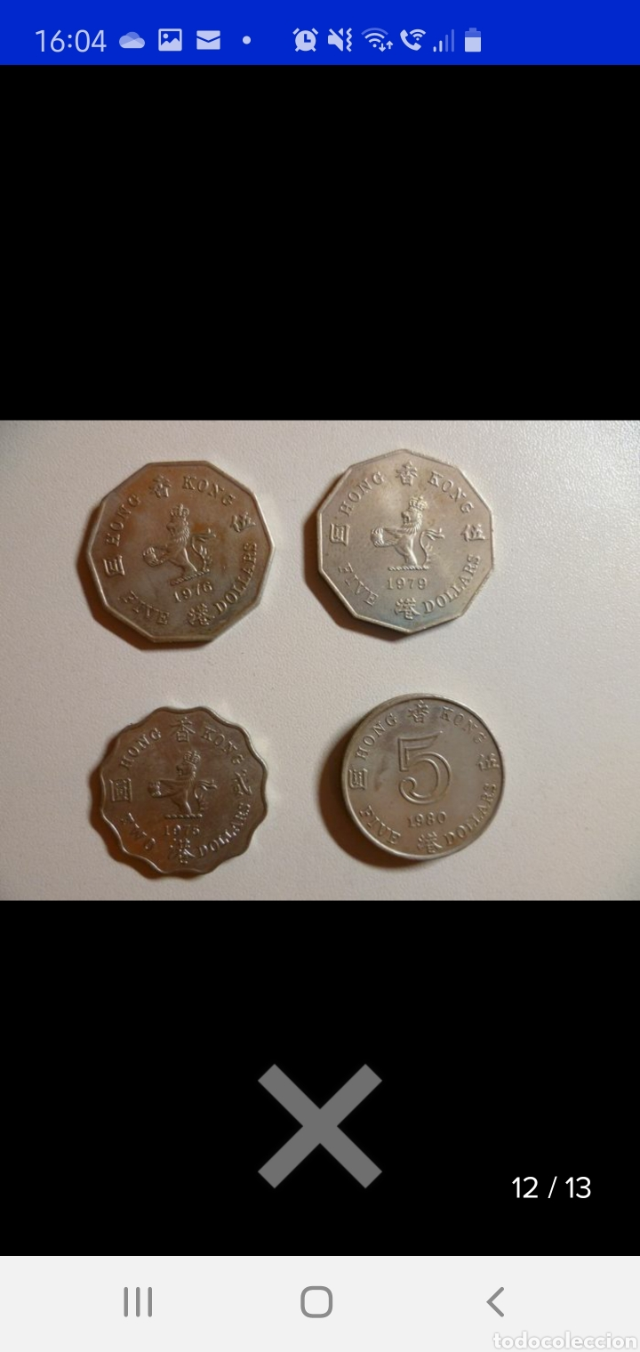 Monedas antiguas de Asia: Colección de 44 monedas hong kong británica diferentes años1933 a 1980 y valores - Foto 4 - 238249355