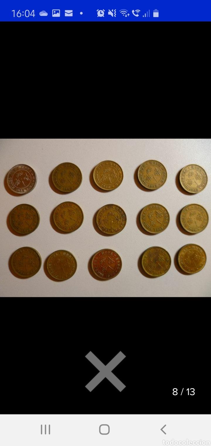 Monedas antiguas de Asia: Colección de 44 monedas hong kong británica diferentes años1933 a 1980 y valores - Foto 10 - 238249355