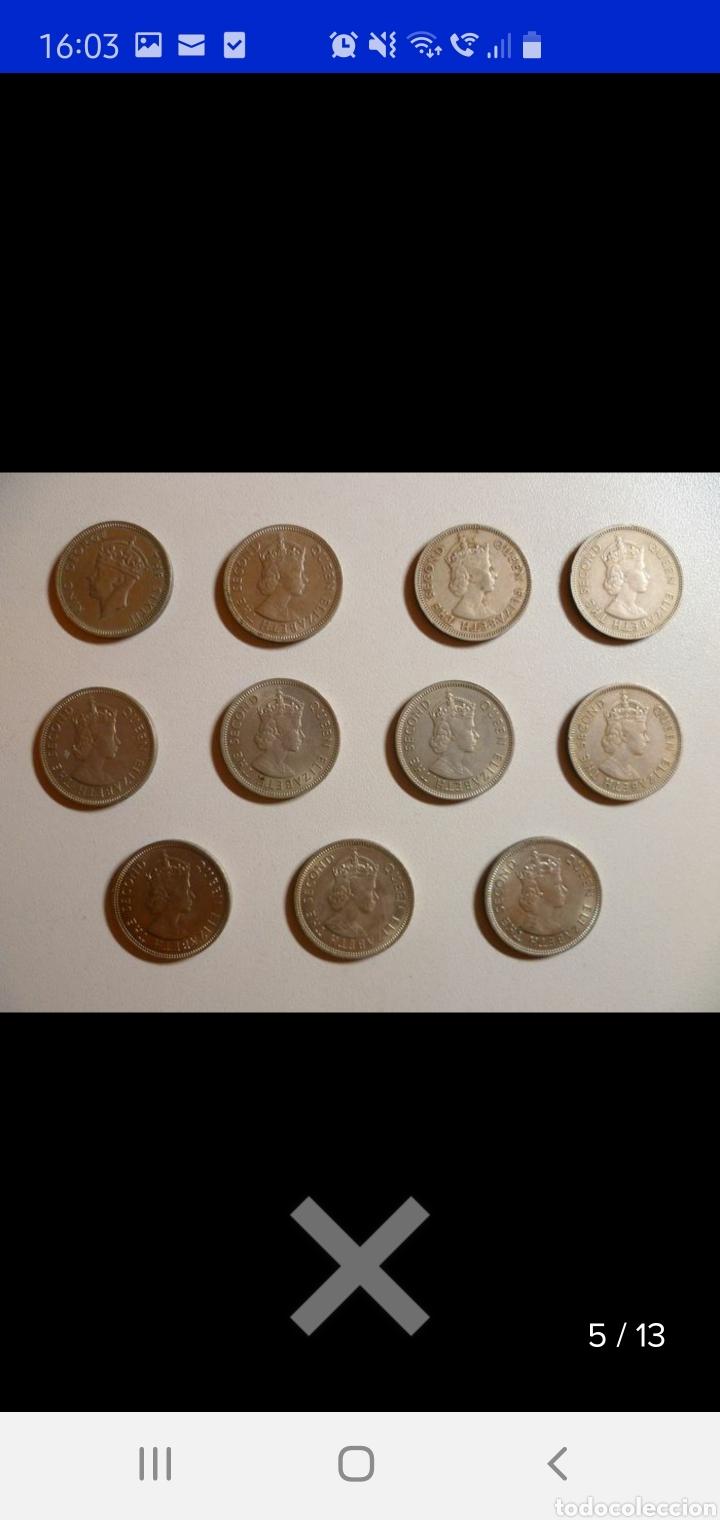 Monedas antiguas de Asia: Colección de 44 monedas hong kong británica diferentes años1933 a 1980 y valores - Foto 11 - 238249355
