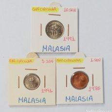 Monedas antiguas de Asia: MALASIA SERIE MONEDAS SC, 1991. Lote 240804155