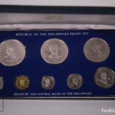 Monedas antiguas de Asia: ESTUCHE MONEDAS PROOF FILIPINAS 1975 - DIVERSOS VALORES PLATA - ACUÑADAS FRANKLIN MINT. Lote 241723140
