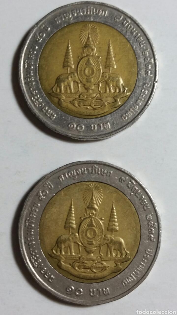 Monedas antiguas de Asia: Moneda de Tailandia 10 bahts lote de 2 unidades - Foto 2 - 243306575