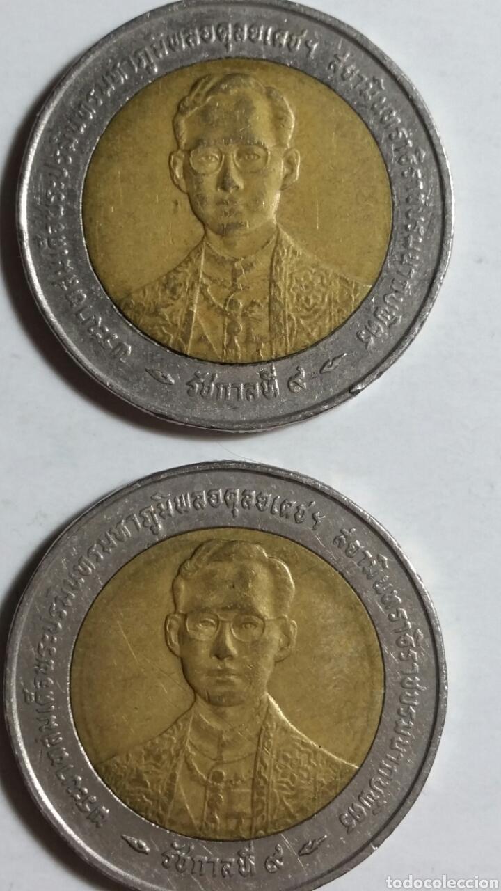 Monedas antiguas de Asia: Moneda de Tailandia 10 bahts lote de 2 unidades - Foto 3 - 243306575