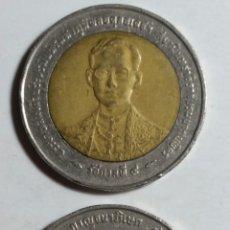 Monedas antiguas de Asia: MONEDA DE TAILANDIA 10 BAHTS LOTE DE 2 UNIDADES. Lote 243306575
