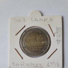 Monedas antiguas de Asia: SRI LANKA 10 RUPIAS 1998 KM#158 BIMETÁLICA MUY BONITA. Lote 244762820