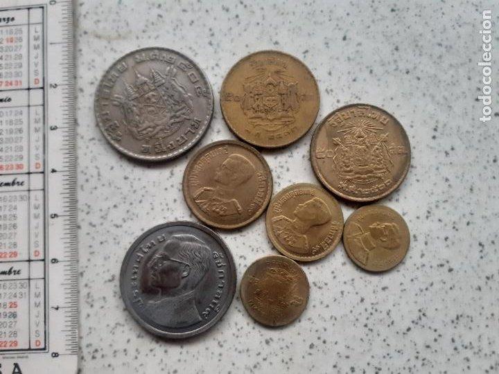 THAILANDIA. 8 MONEDAS (Numismática - Extranjeras - Asia)