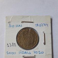 Monedas antiguas de Asia: IRAN 1000 RIALS 2010 (1389) KM#1274 S/C. Lote 246341525