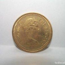 Monedas antiguas de Asia: 1 LIBRA RHODESIA...ORO.. 1966 ISABEL II..EXCELENTE ESTADO DE CONSERVACION..COMO NUEVA.SIN CIRCULAR.. Lote 246472455