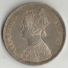Monedas antiguas de Asia: INDIA - BRITANICA - 1 RUPIA - 1862 - PLATA - NO CIRCULADA. Lote 248256420