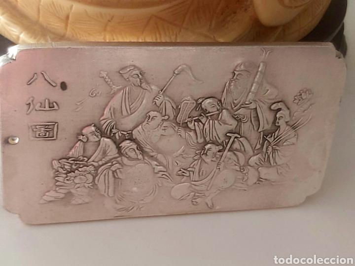 Monedas antiguas de Asia: EXCLUSIVO LINGOTE DE PLATA TIBETANA DE LOS 8 EMPERADORES, LOS INMORTALES - Foto 3 - 250233540