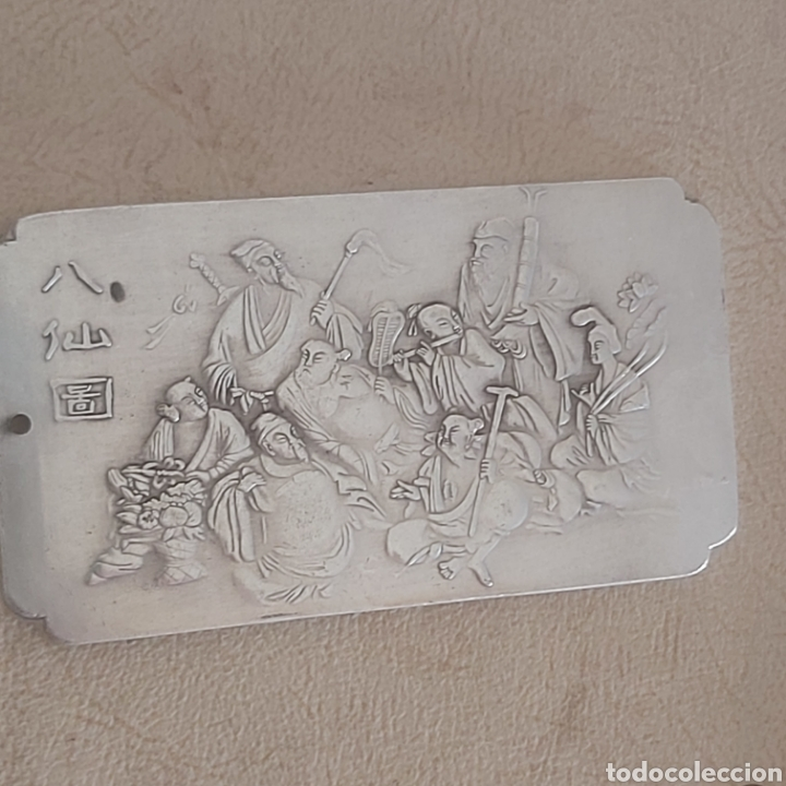 Monedas antiguas de Asia: EXCLUSIVO LINGOTE DE PLATA TIBETANA DE LOS 8 EMPERADORES, LOS INMORTALES - Foto 7 - 250233540