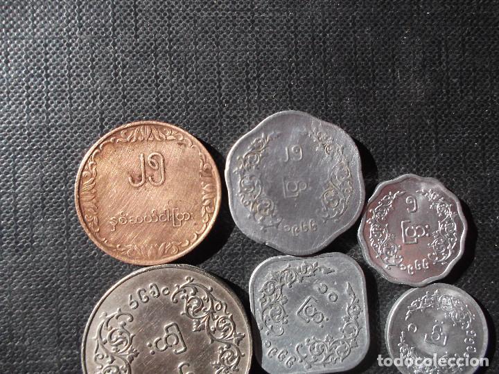 Monedas antiguas de Asia: conjunto de monedas de Myamar - Birmania dificiles - Foto 6 - 154093418