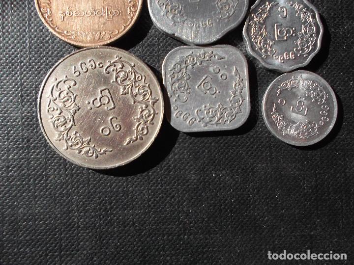 Monedas antiguas de Asia: conjunto de monedas de Myamar - Birmania dificiles - Foto 7 - 154093418