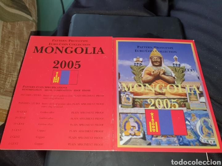 SEIS DE 8 MONEDAS EURO MONGOLIA 2005 (Numismática - Extranjeras - Asia)