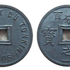 Monedas antiguas de Asia: VIETNAM - TONKIN - 1/600 DE PIASTRA - 1905 - ZINC - NO CIRCULADA. Lote 252588805