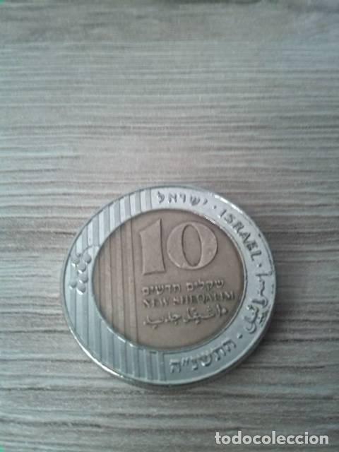 MONEDA DE 10 NEW SHEQALIM. ISRAEL. 1995. (Numismática - Extranjeras - Asia)