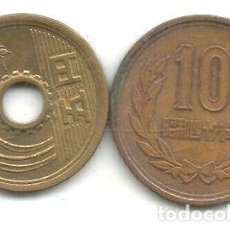 Monedas antiguas de Asia: M 12379 JAPON LOTE 2 MONEDAS 1974. Lote 255300140
