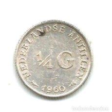 Monedas antiguas de Asia: P 2001 ANTILLAS HOLANDESAS MONEDA DE PLATA 14 GULDEN 1960. Lote 255301750