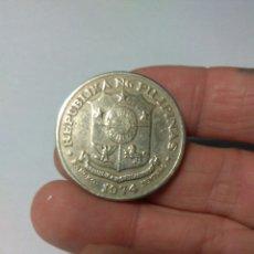 Monedas antiguas de Asia: MONEDA UN PISO FILIPINAS JOSE RIZAL 1974. Lote 255494290