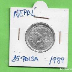 Monedas antiguas de Asia: NEPAL. 25 PAISA 1989. ALUMINIO. KM#1015.1. Lote 261951690