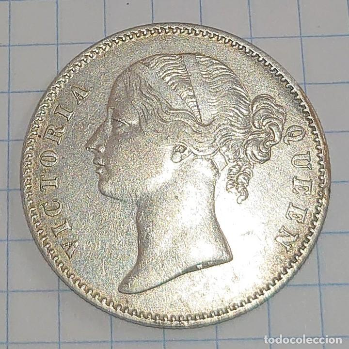 INDIA BRITÁNICA. 1 RUPIA 1840. PLATA. (Numismática - Extranjeras - Asia)