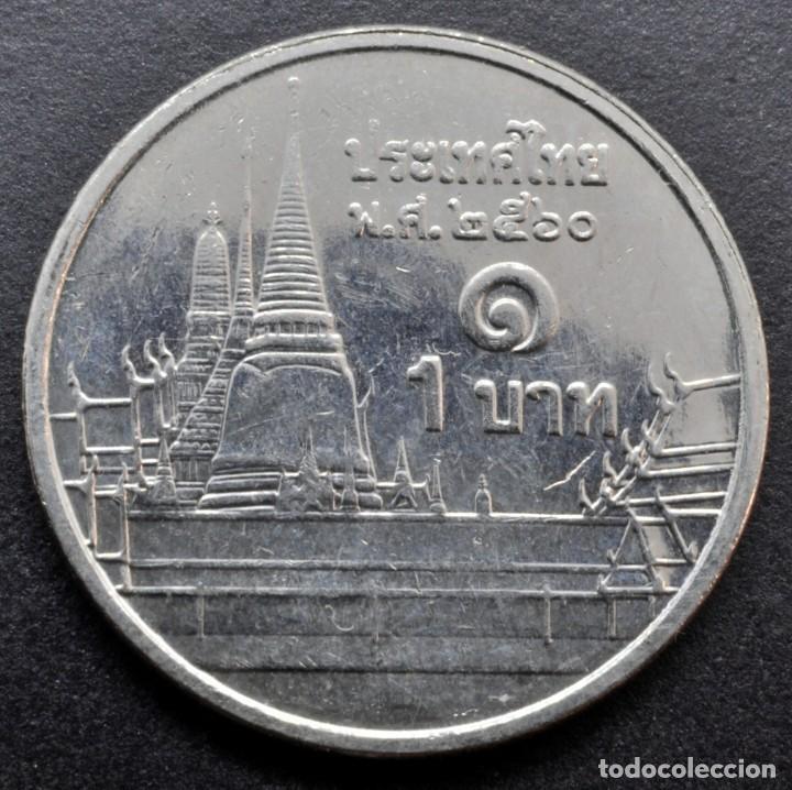 Monedas antiguas de Asia: Tailandia, 1 baht 2017 - Foto 2 - 262333185