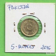 Monedas antiguas de Asia: PAKISTAN 5 RUPIAS 2016 LATÓN KM#75. Lote 263571590