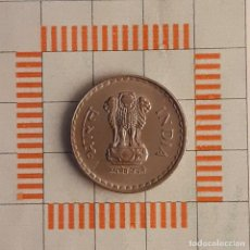 Moedas antigas da Ásia: 5 RUPIAS, INDIA. 1997 (BOMBAY). (KM#154.1). Lote 263693650