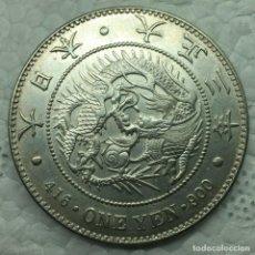 Monedas antiguas de Asia: MONEDA JAPON DINASTIA TAISHO 1914 AÑO 3 - 1 YEN DRAGON PLATA. SC. Lote 264743789