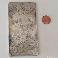 Moedas antigas da Ásia: EXCLUSIVO LINGOTE DE PLATA TIBETANA!!!! EN VENTA DIRECTA 49 EUROS! ANIMAL: CONEJO.. Lote 267337824
