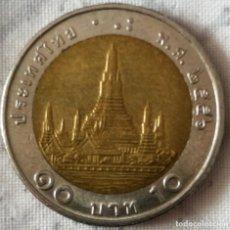 Monedas antiguas de Asia: MONEDA BIMETALICA DE 10 BATH DE TAILANDIA. Lote 267764084