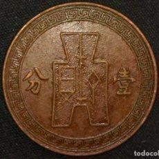 Monedas antiguas de Asia: 1 FEN 1937 REPÚBLICA DE CHINA (A2). Lote 269063568