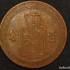 Monedas antiguas de Asia: 1 FEN 1937 REPÚBLICA DE CHINA (A3). Lote 269063663