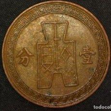 Monedas antiguas de Asia: 1 FEN 1937 REPÚBLICA DE CHINA (A6). Lote 269063918